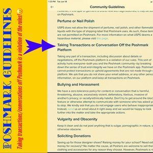Poshmark Guidelines - IMPORTANT